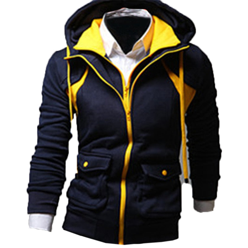 Sweatshirts Men's Hoodies Fashion Sweatshirts Slim Fit Zip Up Men Hoodie Jackets