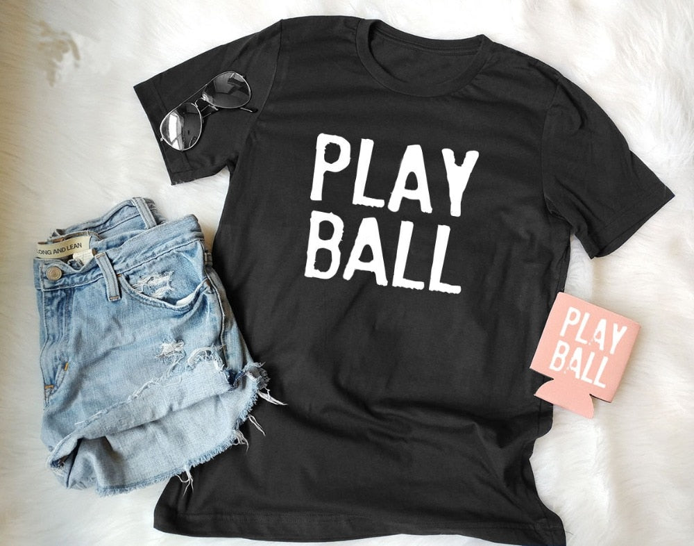 Play Ball O-Neck T-Shirt Cotton