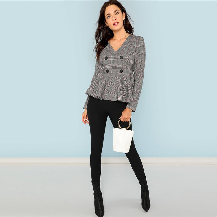 Grey Elegant  Slim Fit  Women Coat