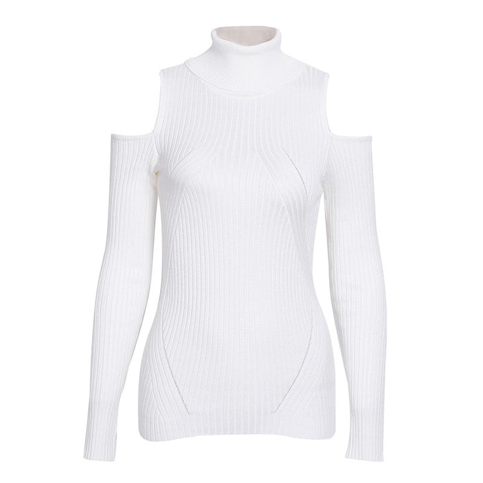 Turtleneck knitting winter sweater women