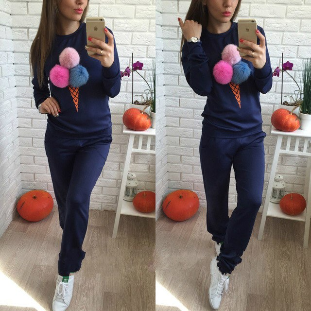 Women 2 Pcs Sets Female's Fashion Casual Sportswear Suit  Hoodies+Pants