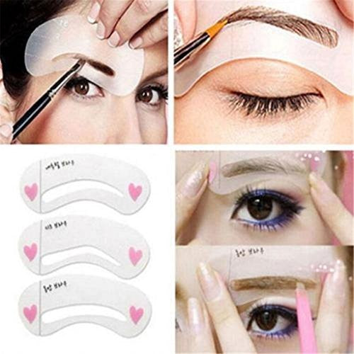 Eyebrows Model Grooming Stencil Kit Shaping Templates DIY