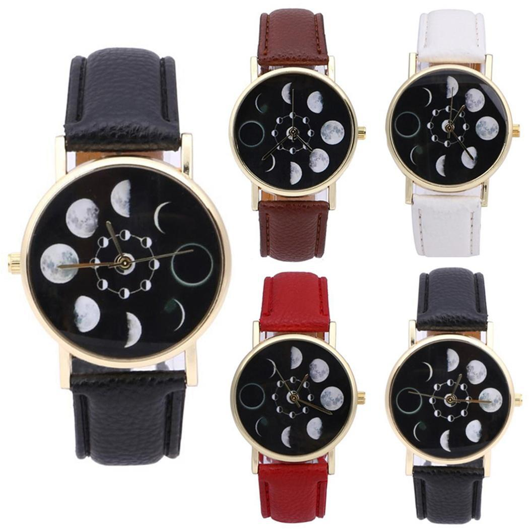 Eclipse Stylish Fashion Women Watch Change Bracelet Design Clock Leather Quartz