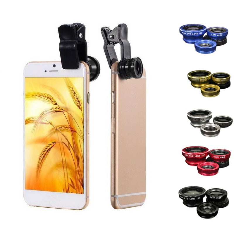 3 in 1 Mobile Phone Lenses Fish Eye
