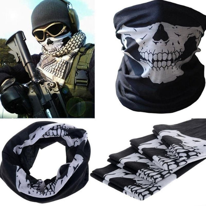 Men  Cool Skull Design Adults Multi Function Ski Sports Motorcycle Biker