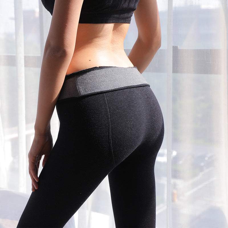 1 Pieces Fashion Women's High Waist Elasticity Quality  Velvet Pants Warm Leggings