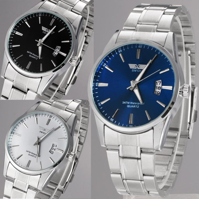 Watches men 2019 Male Quartz Watch Men Full Steel Wristwatches Analog