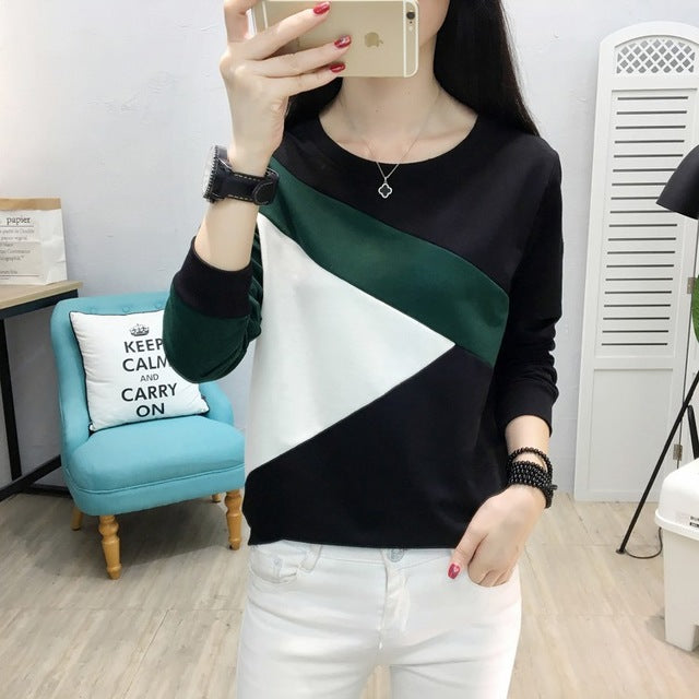 women t shirts loose haut femme casual sweater cotton