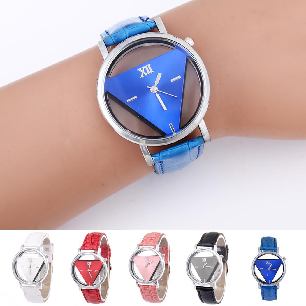 Fashion Unisex Hollow Analog Synthetic Leather Casual 4cm/1.6inch