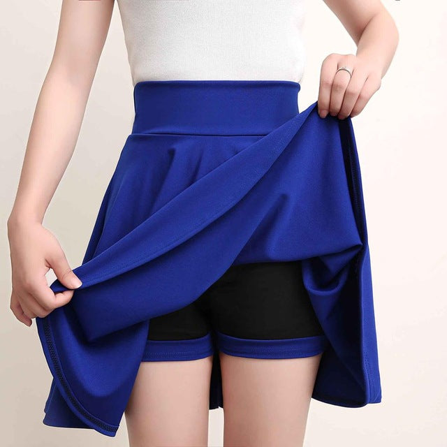Shorts Skirts Womens 2019 Summer A line Sun School High Waist Pleated Skirt