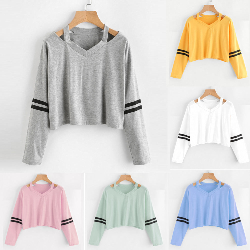 Fashion Womens Long Sleeve Sweatshirt Tops Blouse