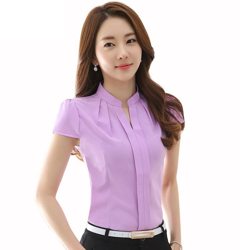 Summer Short Sleeve Top Women Blouse