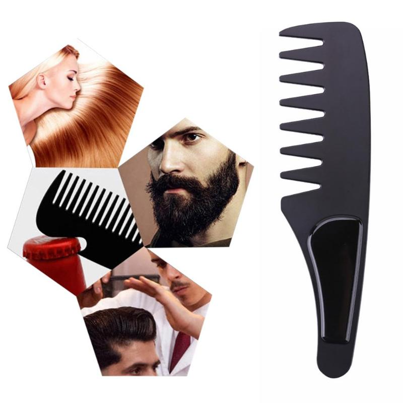 1pc Portable Durable Stainless Steel Comb Hair Brush Wide Teeth Beard