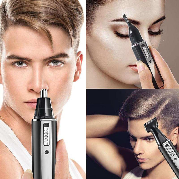 4 In 1 Nose Hair Trimmer Waterproof Stainless Steel Trimmer for Men