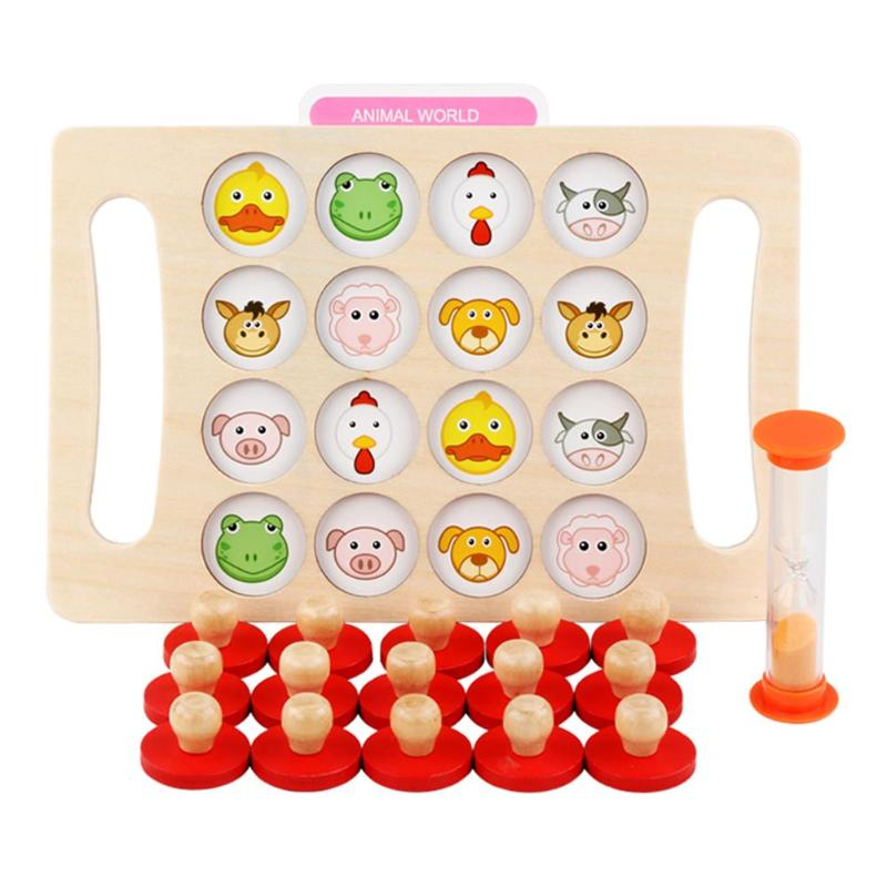 Kids Early Education Wooden Toys Memory Match Chess Game Toys for Children
