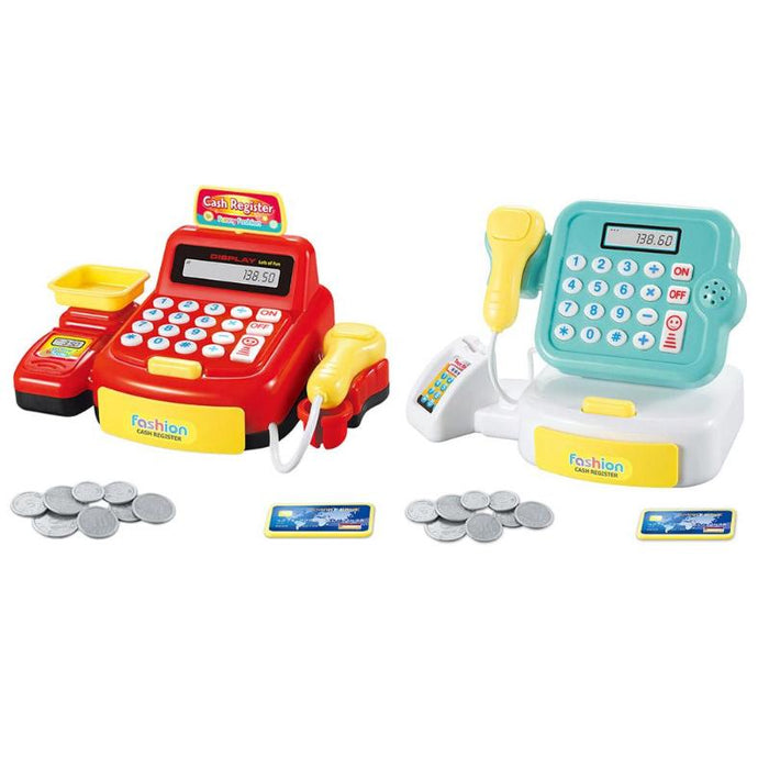 Simulated Supermarket Checkout Counter Role Cashier Cash Toy