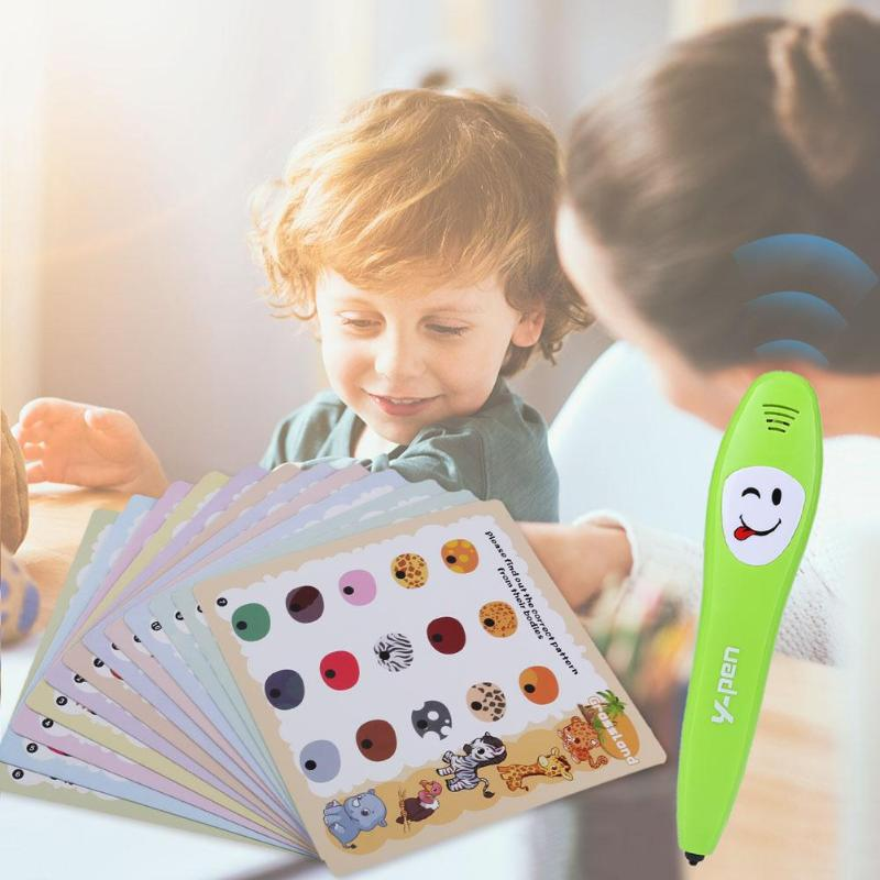 Smart Logic Pen Right-or-Wrong Electronic Reading Pen with 12pcs Study Card Parent-child Educational Toy