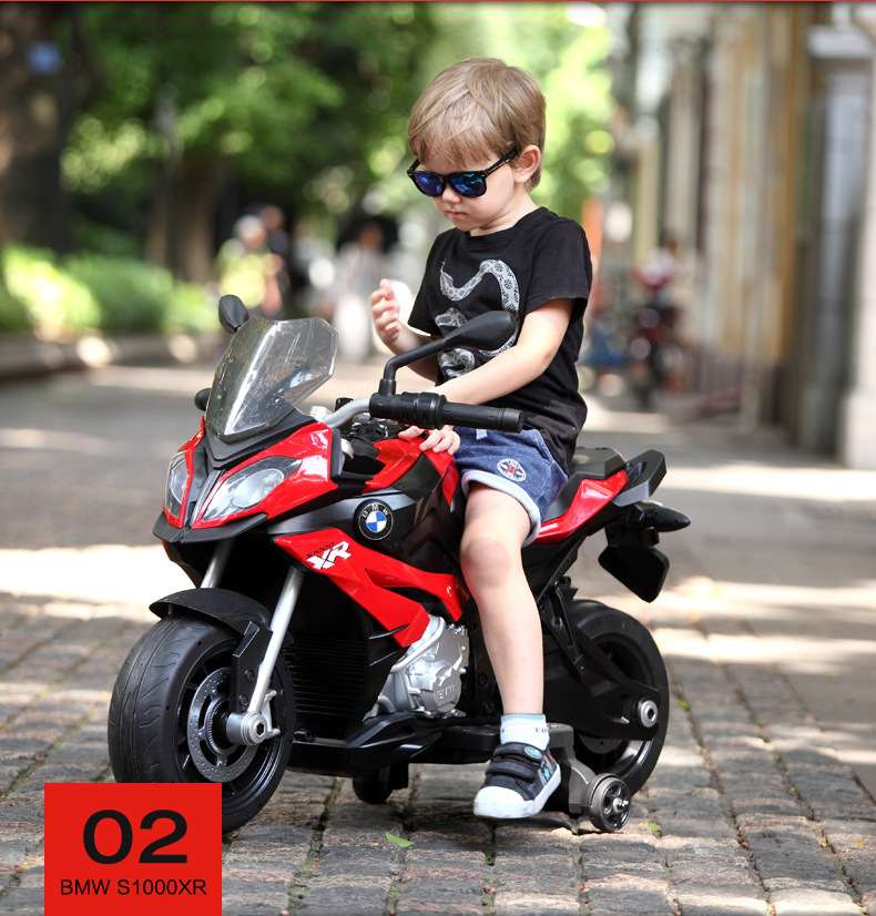 Two Wheels Simulated Model S1000R  Children Boy Electric Motorcycle