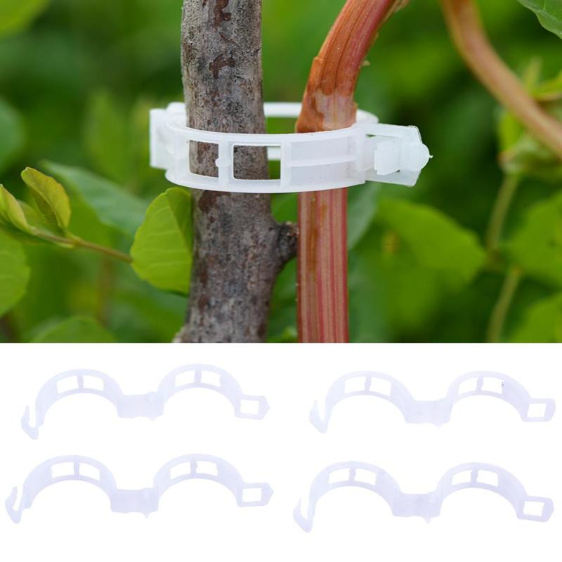 50/100/200pcs 30mm Plastic Plant Clips Garden Ornament