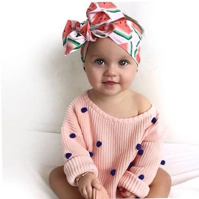 Fashion Florals Headband Newborn Baby Elastic Princess Hairbands Child