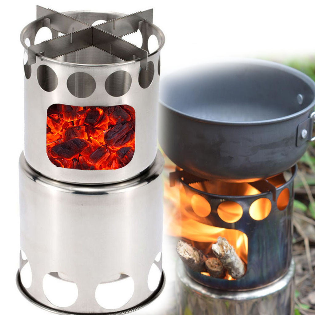 Barbecue BBQ Chimney Starter Charcoal Grill Steel Rapid Quick Fire Lighter Stainless