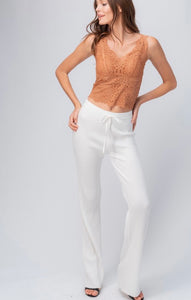 Ribbed Knit Lounge Pant