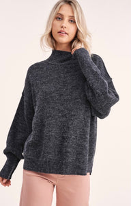Luxe Mockneck Sweater in Black