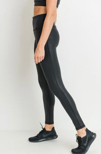 High Waist Foil Print Leggings