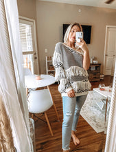 Load image into Gallery viewer, Boho Fringe One Sleeve Sweater