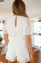 Load image into Gallery viewer, Star Embroidered Off White Romper