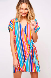 Rainbow Wrap Dress - Taylor's Layne Boutique