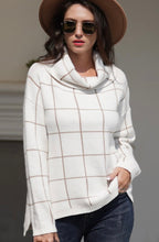 Load image into Gallery viewer, Trendy Grid Sweater Ivory