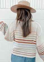 Load image into Gallery viewer, Striped Knit Cropped Pullover Sweater