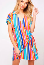 Load image into Gallery viewer, Rainbow Wrap Dress - Taylor's Layne Boutique