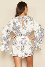 Load image into Gallery viewer, Printed Bell Sleeve Romper
