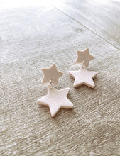 Load image into Gallery viewer, Double Star Dangle Earrings