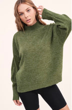 Load image into Gallery viewer, Luxe Mockneck Sweater in Olive