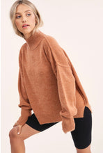 Load image into Gallery viewer, Luxe Mockneck Sweater in Camel