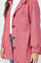 Load image into Gallery viewer, Pink Oversized Teddy Jacket