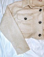 Load image into Gallery viewer, Oversized Teddy Shirt Jacket in Taupe