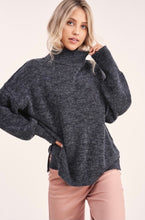 Load image into Gallery viewer, Luxe Mockneck Sweater in Black