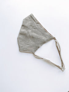 Grey Linen Face Mask