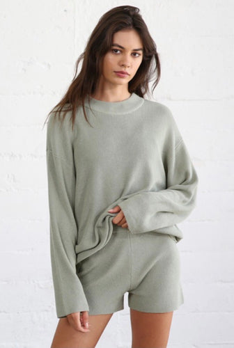 Sage Loose Knit Sweater Top