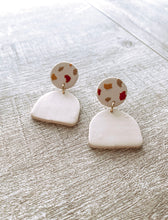 Load image into Gallery viewer, Spotted Polymer Clay Earrings #1