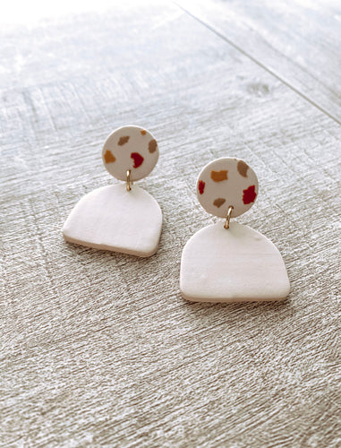 Spotted Polymer Clay Earrings #1