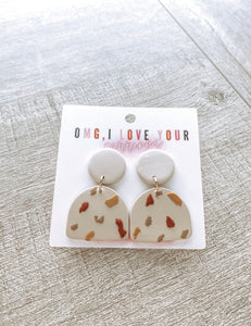 Spotted Polymer Clay Earrings #2