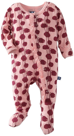 KicKee Pants Lotus Poppy Ruffle Footie with Paws