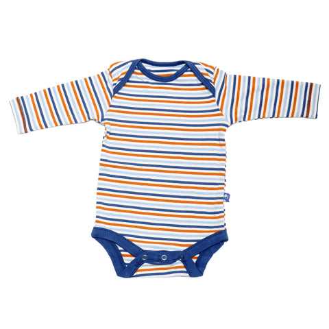 KicKee Pants Twilight Stripe Long Sleeve Onesie