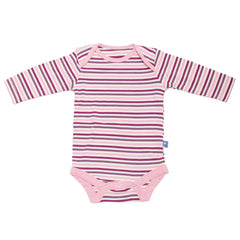Kicky Pants Orchid Stripe Long Sleeve Onesie