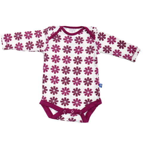 KicKee Pants Woodland Flower Long Sleeve Onesie